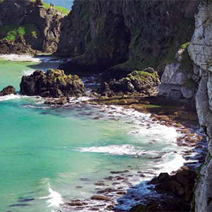 a picture of county antrim coast, link loads PDF document in new browser window