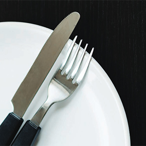 picture of a knife and fork, link opens PDF in new browser window