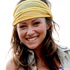 a picture of a woman wearing a bandana, link loads PDF document in new browser window