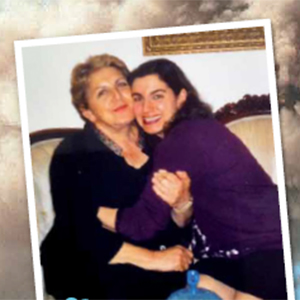 a picture of Neda Bolourchi with her mother, link opens new PDF browser window